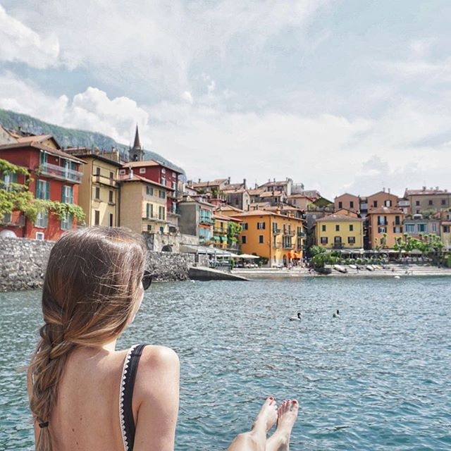 """There's nothing """"sleepy"""" about Lake Como with it's jutting cliffs, towering villas, and a display of colors that could rival a rainbow!"""