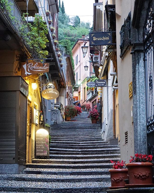 The world needs more places where you can slow down and rest... Minus the gazillion stairs in the picture above, Bellagio is the perfect place to do that! Spending a peaceful day eating gelato and wandering in and out of shops along the cobblestone streets is what I like to call a perfect day in Italy ✨ ugh TAKE ME BACK! • •  #twinventures #italy #travel #italy🇮🇹 #bellagio #lakecomo #hiddengems #lakedistrict #travelblog #travelgram #wanderlust #anniversarytrip #travelphotography #passportready #passionpassport #TLPicks #lp #bestvacations #travels #beautifuldestinations #wonderful_places