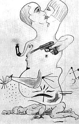 """Exquisite Corpse,"" by Man Ray, Yves Tanguy, Joan Miro & Max Morise"