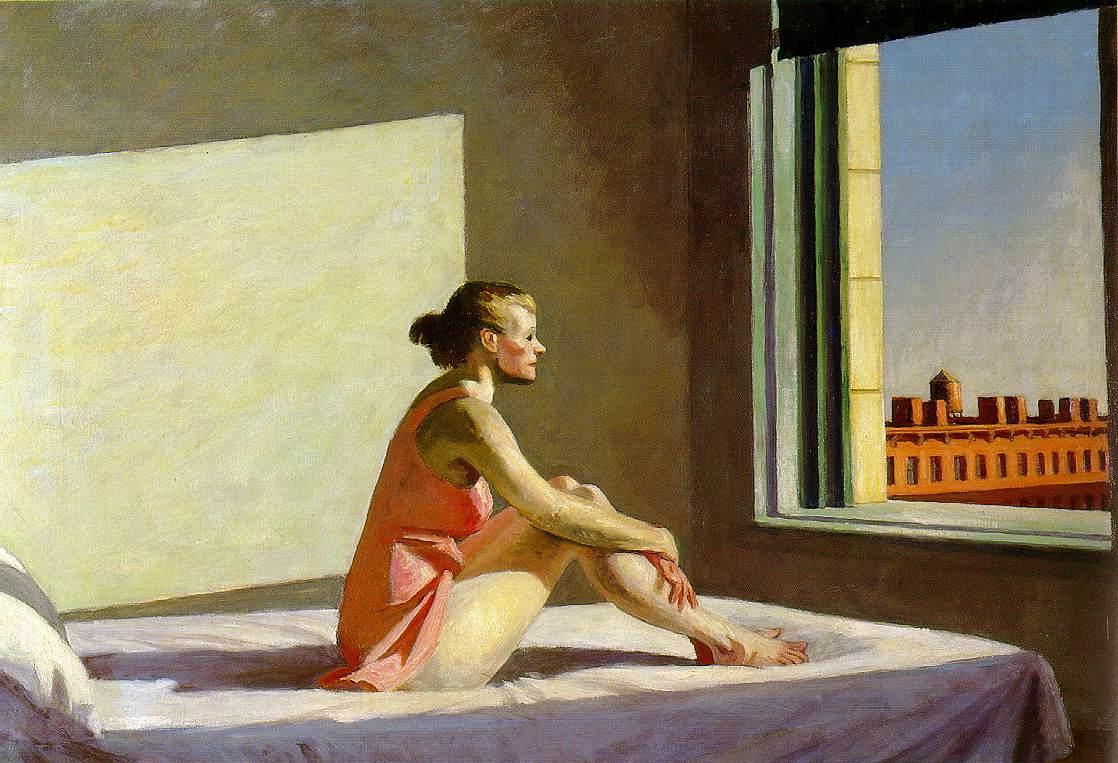 """Edward Hopper, """"Morning Sun"""""""