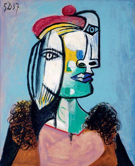"""Pablo Picasso, """"""""Marie-Thérèse au Béret Rouge et au Col de Fourrure"""""""