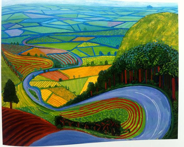 """David Hockney, """"Garrowby Hill"""""""