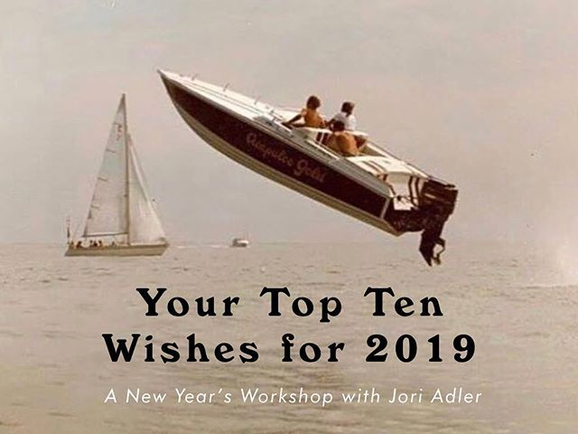 Your Top Ten Wishes for 2019✨⁣ A New Year's Workshop⁣ ⁣ In this 2-hour workshop, we will: ⁣ ⁣ - Identify your most pressing areas of focus⁣ ⁣ - Learn how to craft your specific wishes⁣ ⁣ - Address subconscious patterns that may be holding you back⁣ ⁣ - Establish a monthly practice to create your own system of accountability ⁣ ⁣ Join Jori Adler, Psychotherapist and Founder, Flow House.⁣ ⁣ Saturday, January 12 from 3 – 5pm in Venice, CA⁣ ⁣ $50⁣ ⁣ Please RSVP to info@flowhousetherapy.com or DM for more information