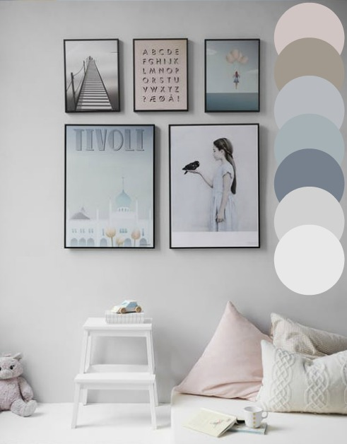 Not too bright:  Avoid overbearing and stimulating colours in children's bedrooms by using tints, tones and tones.