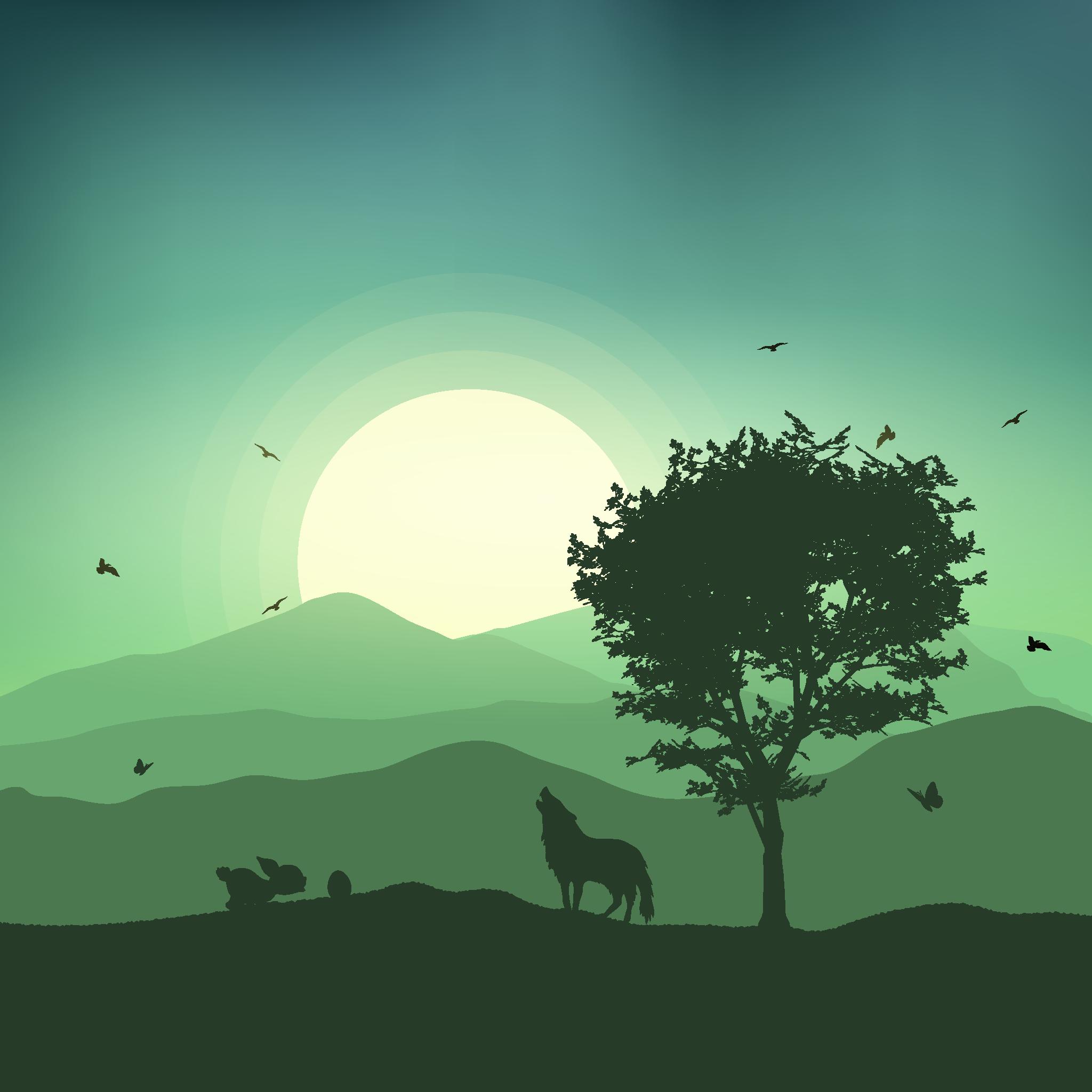 Animals and Sunset #1
