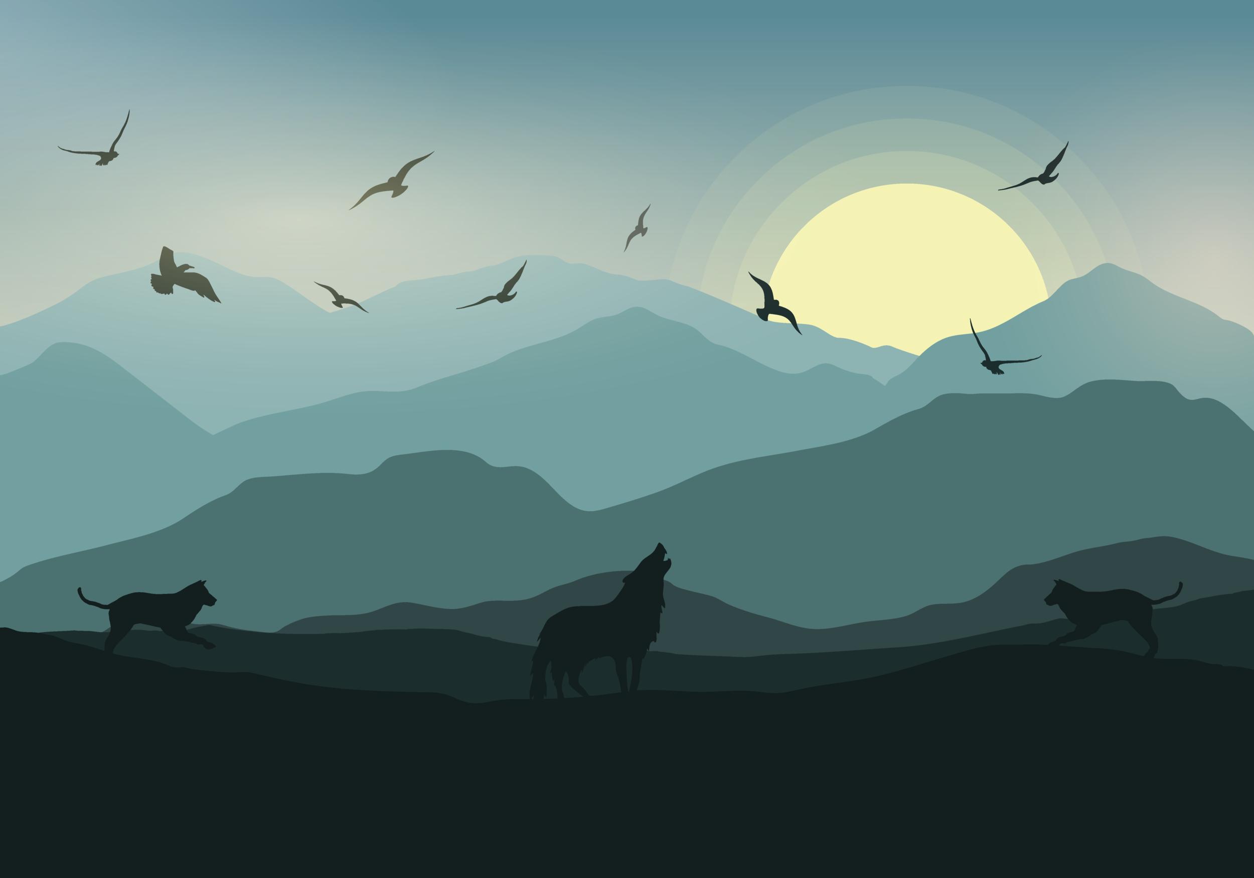 Animals and Sunset #2
