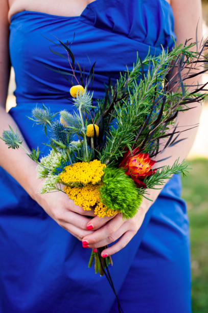 Themes repeated in the party's bouquet.