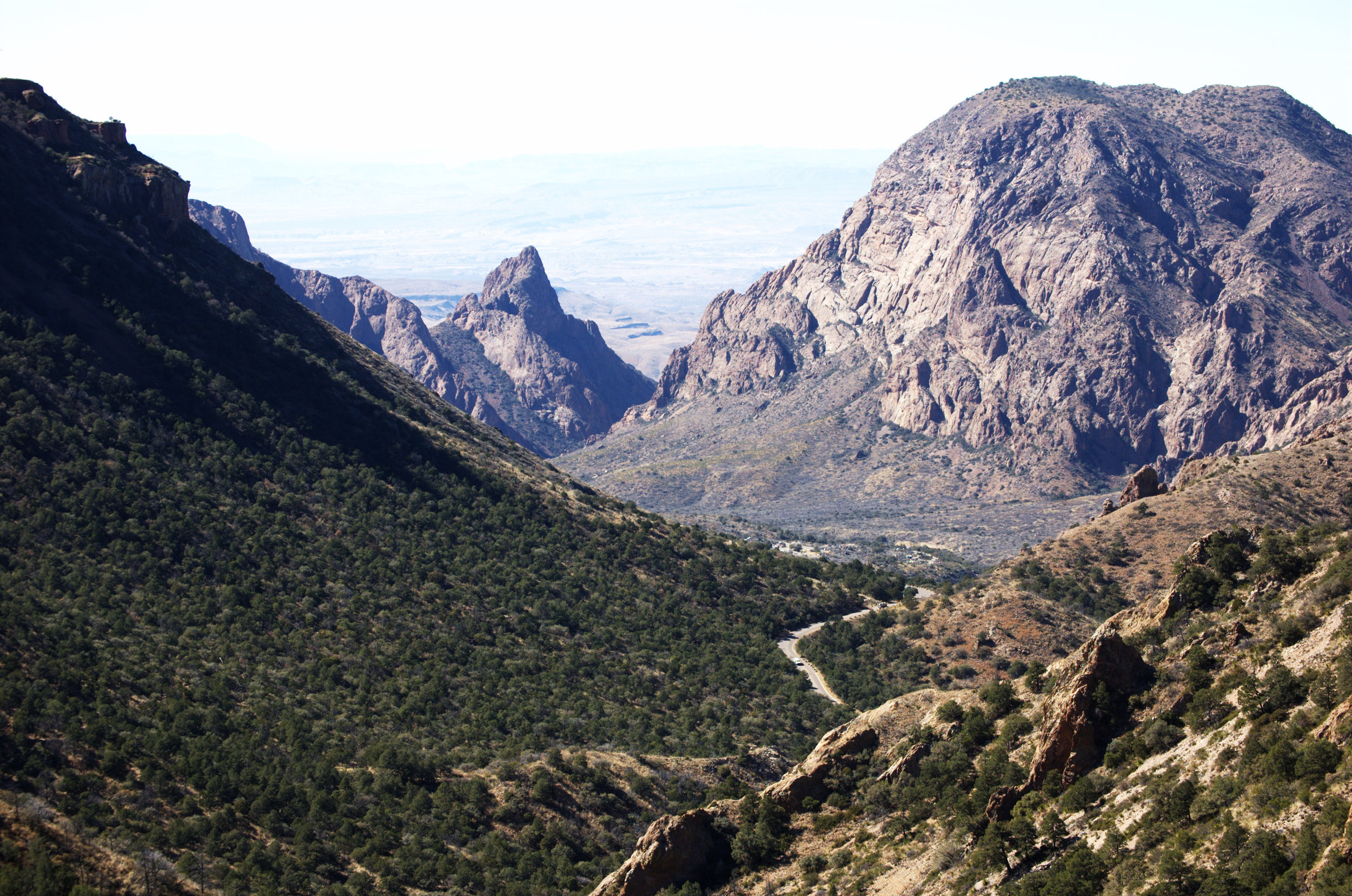 Panther Pass with The Window in the background, Chisos Mountains