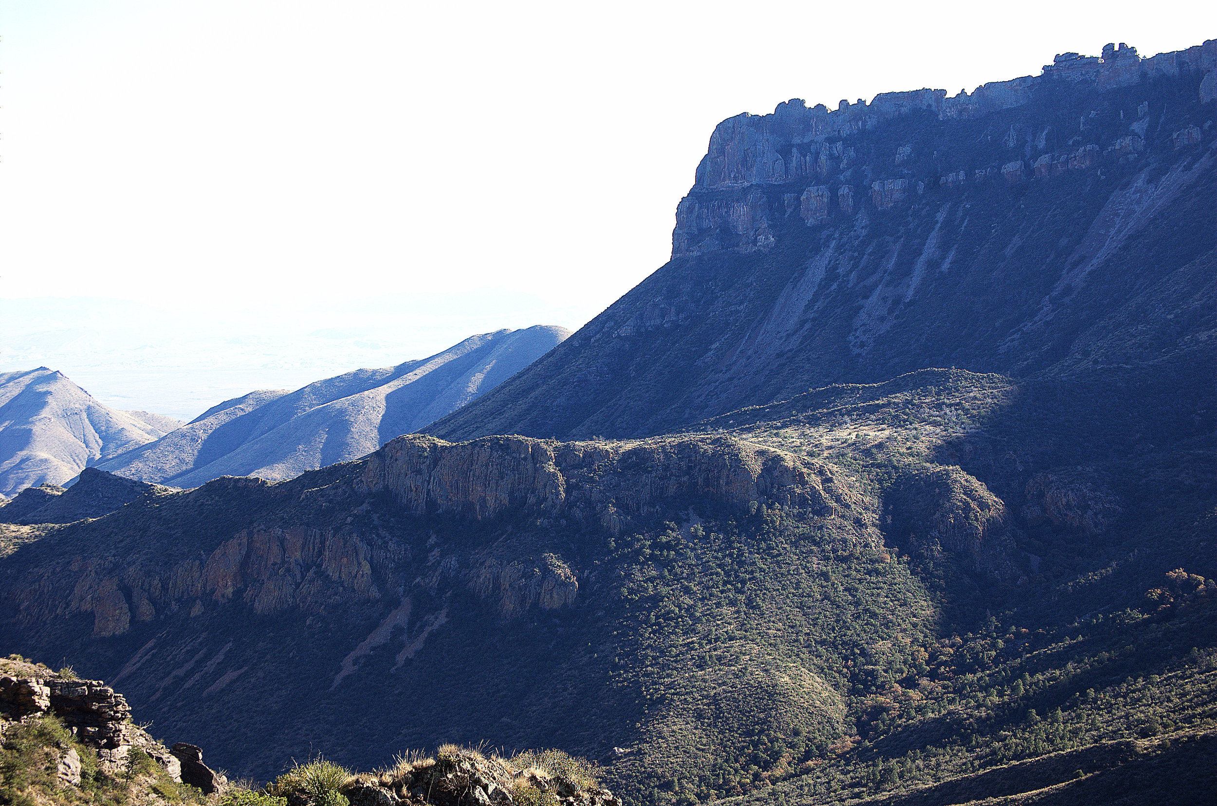 Northeast Rim above Juniper Canyon, Chisos Mountains