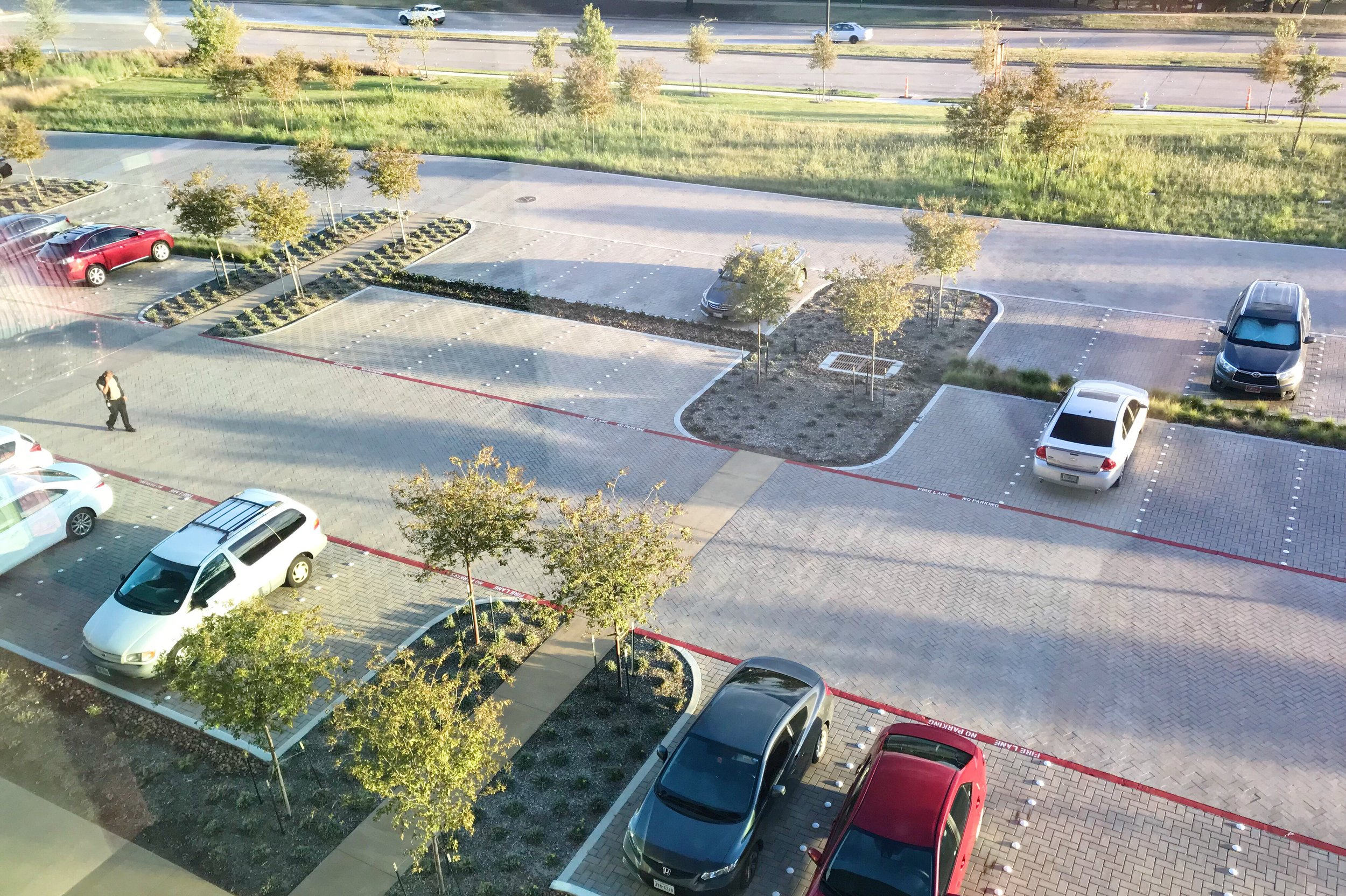 Guest parking lot at entrance