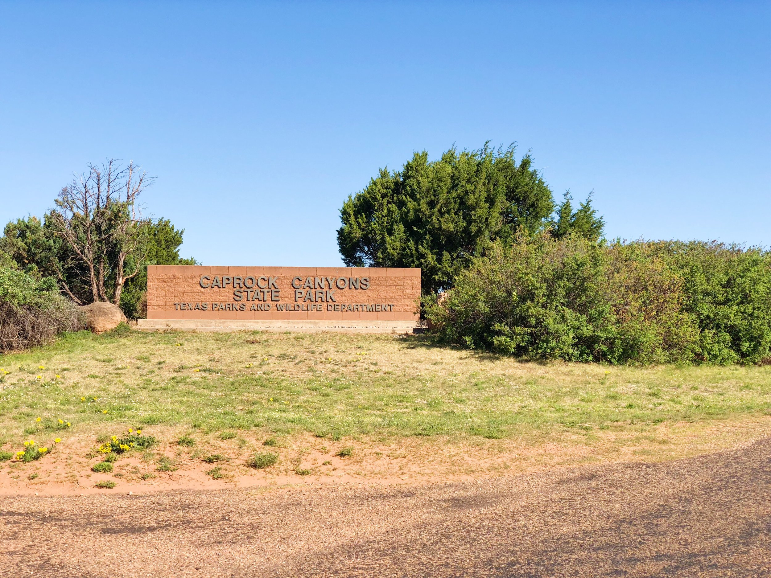 Entry gate to Caprock Canyons State Park, Briscoe County, Texas