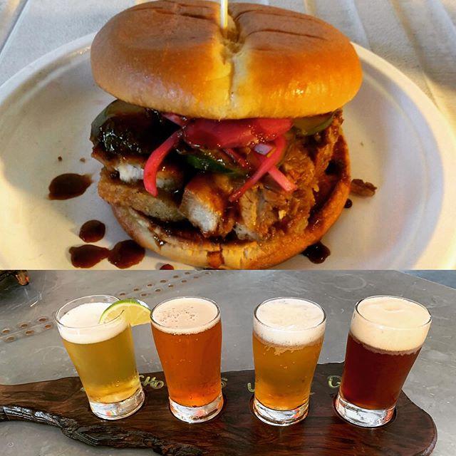 Crispy Pork Belly Sando Say What??? ⠀⠀⠀⠀⠀⠀⠀⠀⠀⠀⠀⠀ Enjoy your Sunday with a flight of your faves alongside some of the best pop-up bar bites around from @faninos_godfatherofsauce! We open at noon and food starts at 2pm! ⠀⠀⠀⠀⠀⠀⠀⠀⠀⠀⠀⠀ #101NorthBrewing #SundayVibes #BeautifulDayInTheBeerborhood #CrispyPorkBellyIsEverything #FancyAFlight #HopToIt #EatLoca #DrinkLocal #PetalumaBrewery #PetalumaTaproom #SonomaCountyCraftBrews #Petaluma