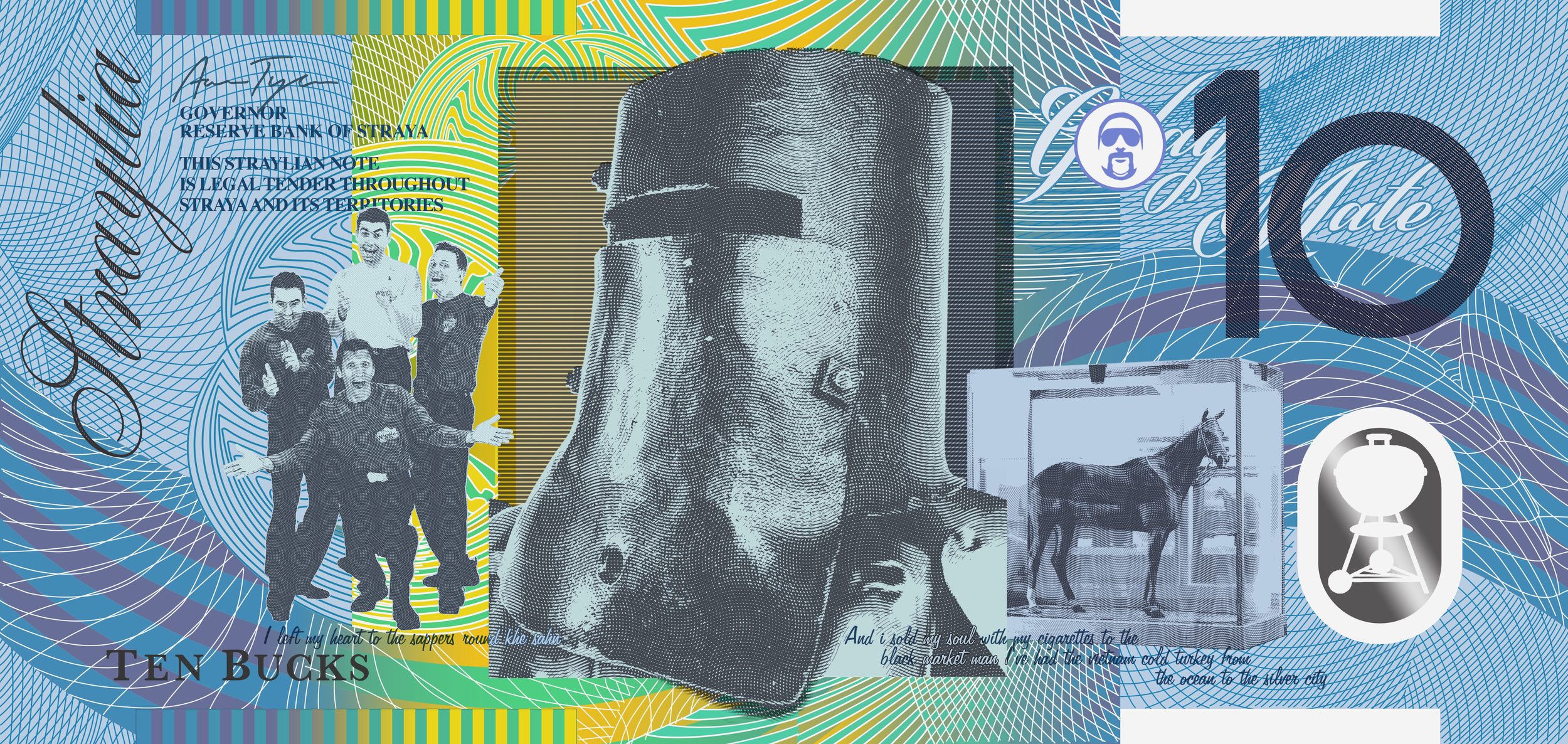 Ned Kelly, The Wiggles,Phar Lap and Chopper.