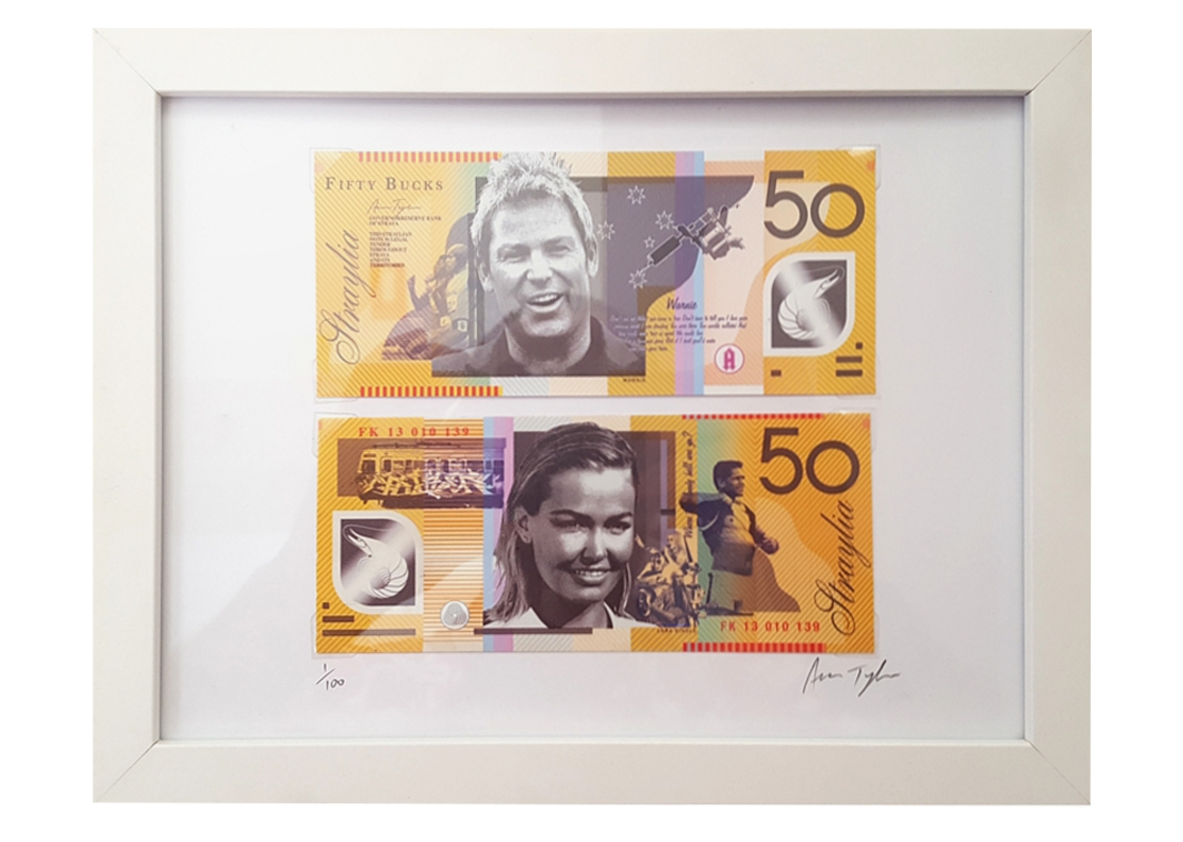Click to purchase the $50 STRAYA CASH print.