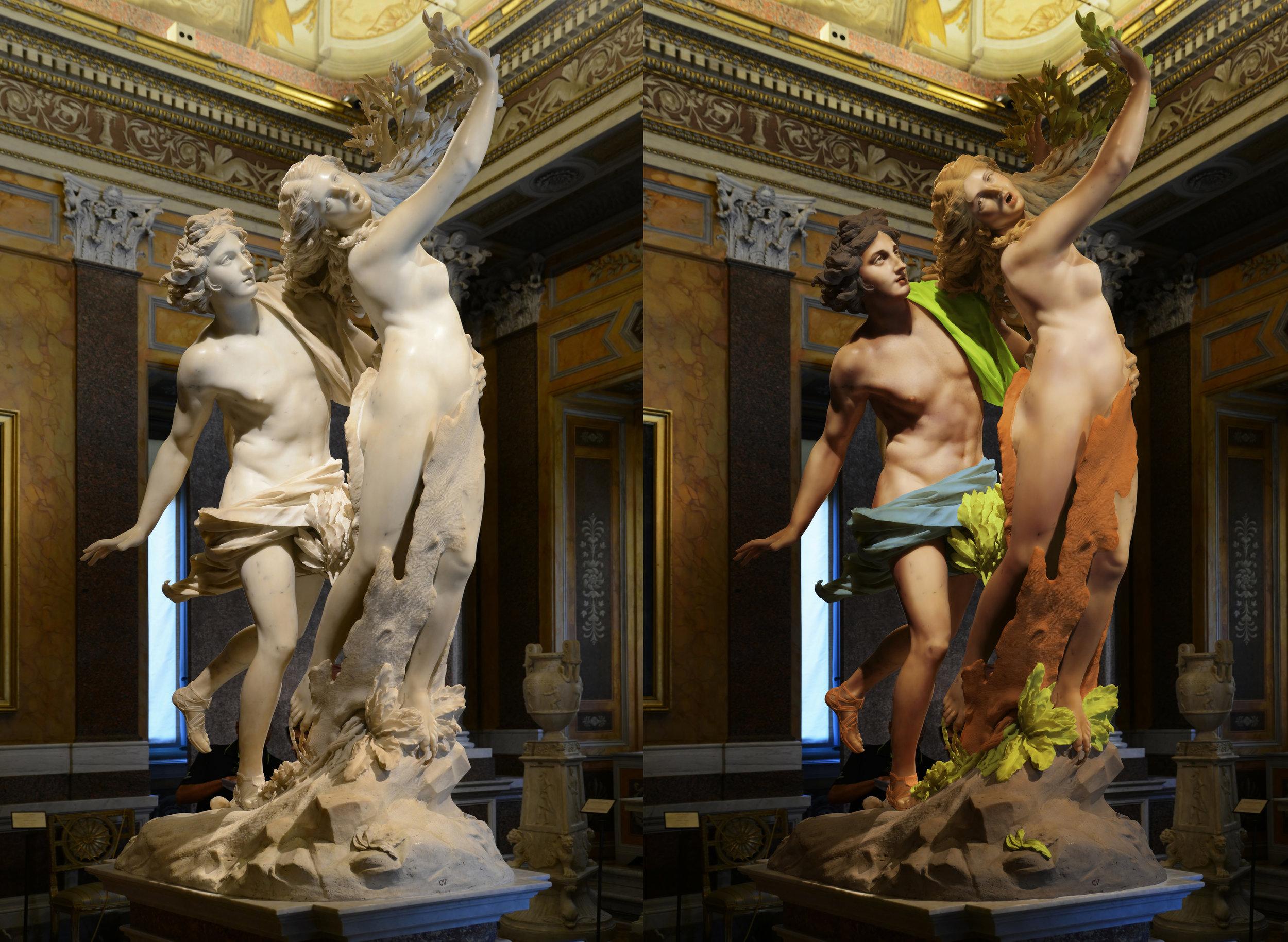 Quick photoshop test.  Bernini's Apollo and Daphne 1622–1623, Galleria Borghese in Rome