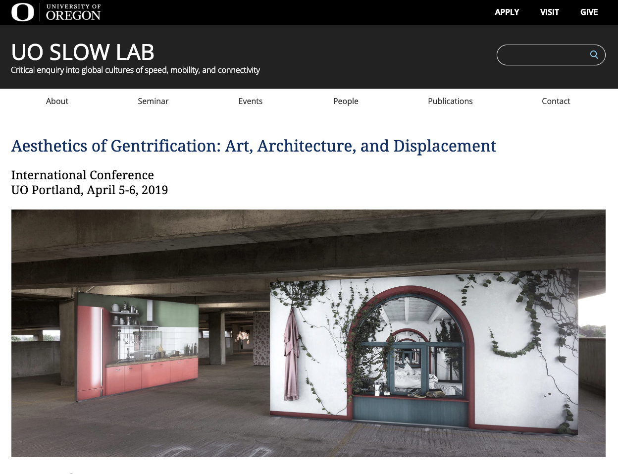 Aesthetics of Gentrification International Conference