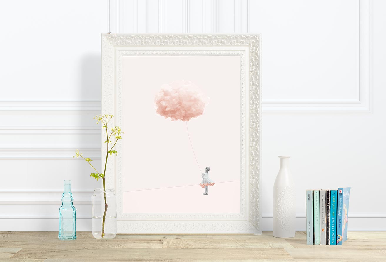 Girl with a cloud - From 99,00 DKK