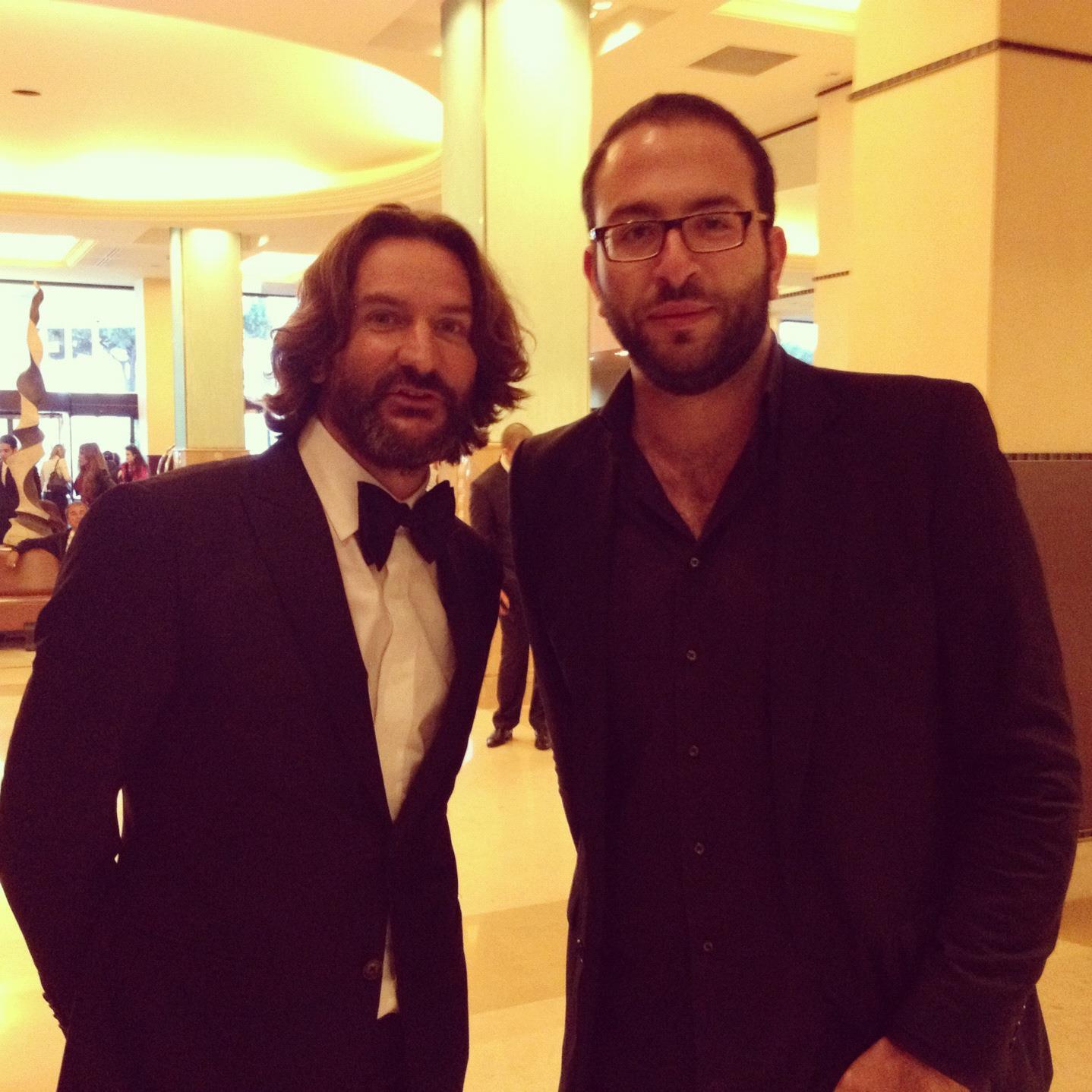 Nasri Atallah With Frederic Beigbeder.