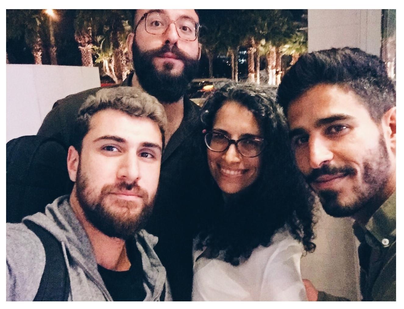 Nasri Atallah with Haig Papazian (Mashrou Leila), Dima Khatib (AJ+) & Ahmed Shihab-Eldin (AJ+, VICE)