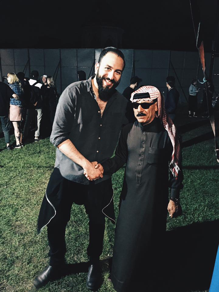 With music legend Omar Souleyman at Field Day London