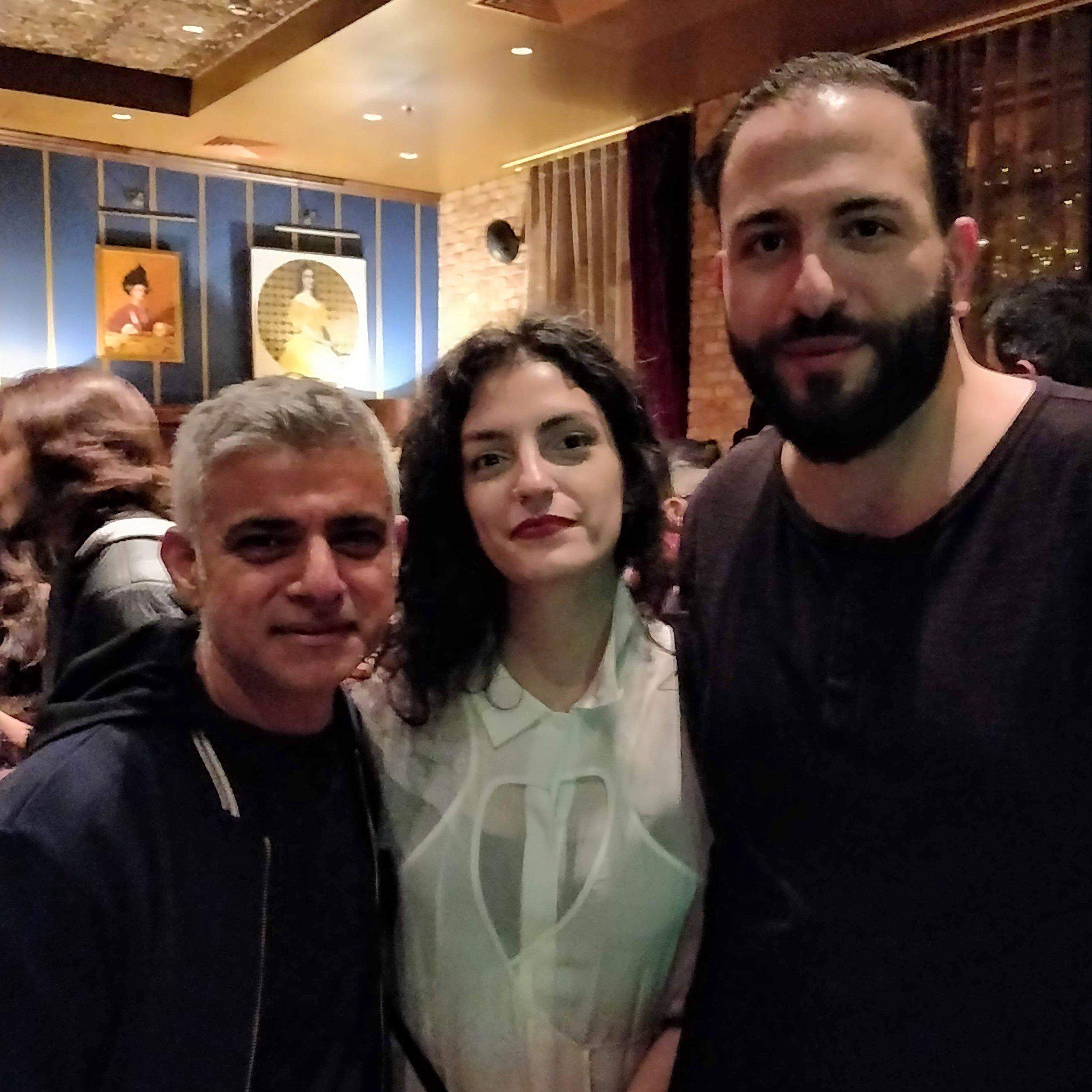 Sadiq Khan, Nour Hage and Nasri Atallah
