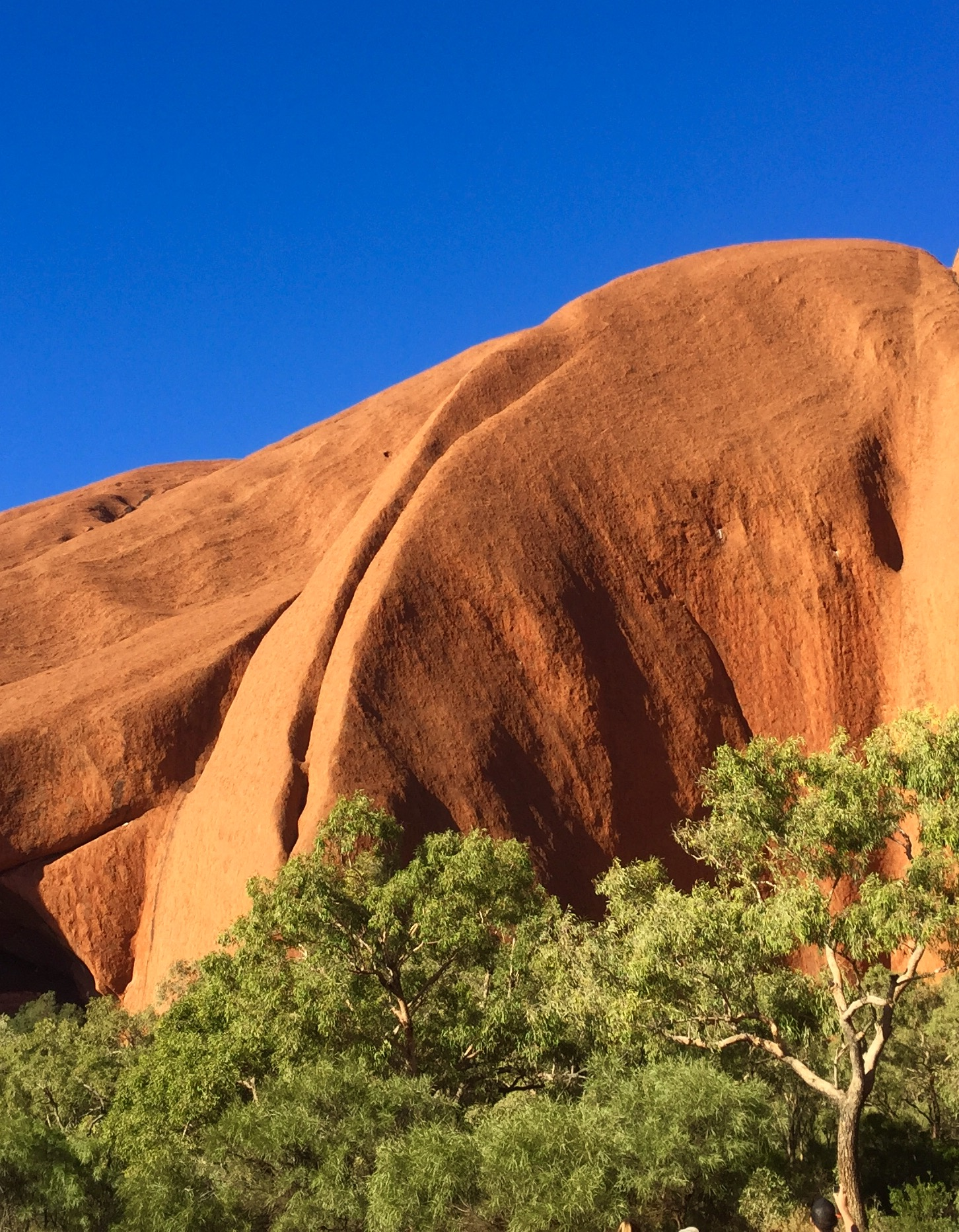 Vue rapprochée d'Uluru au cœur de l'Australie centrale. © photo : Aboriginal Signature • Estrangin Fine Art Gallery