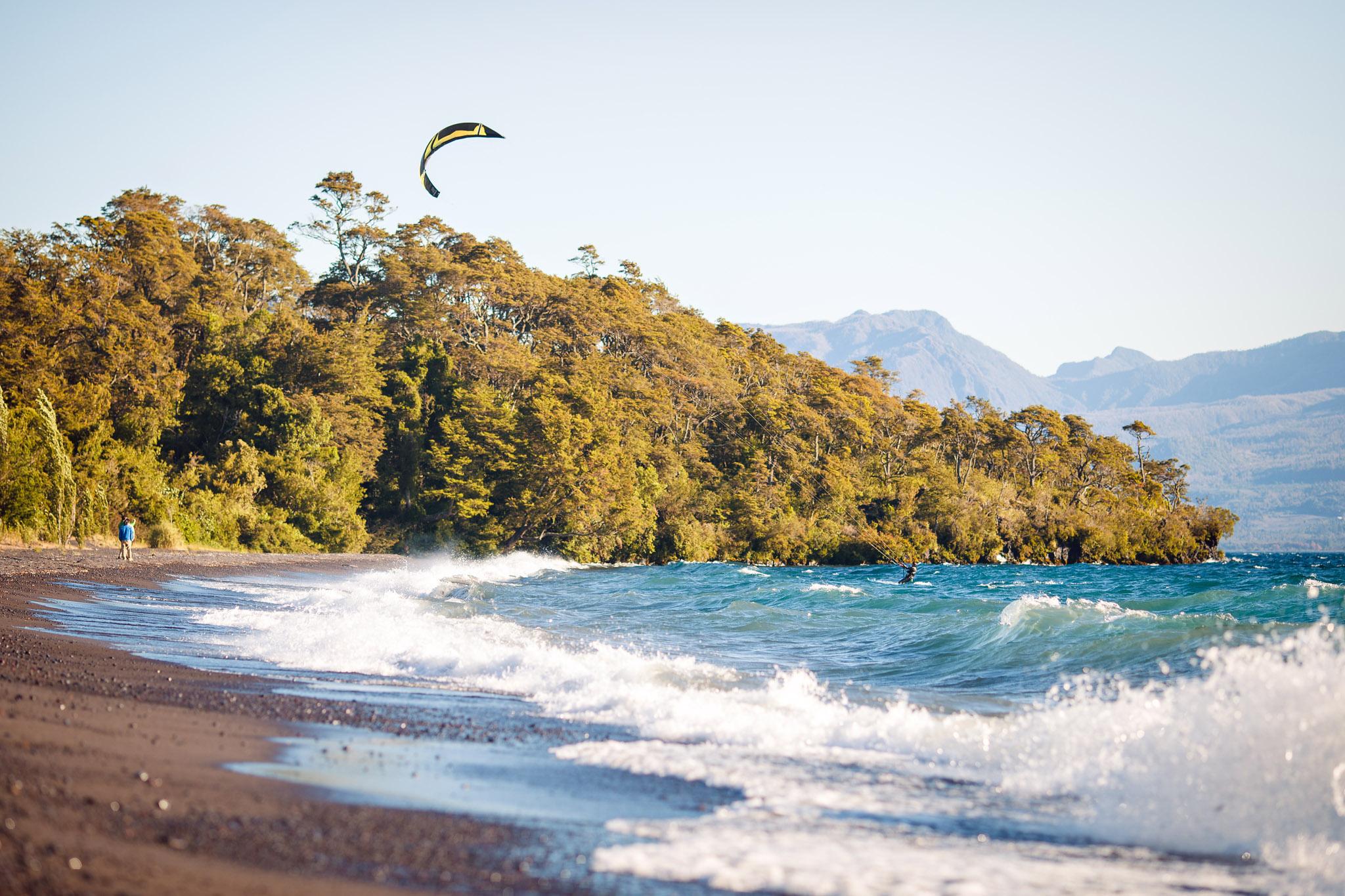 chile-lake-district-windsurfing-volcano