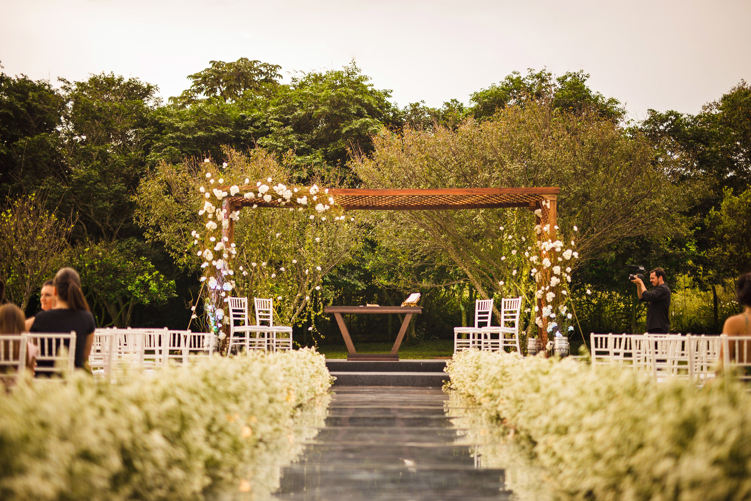 The beautiful wedding alley