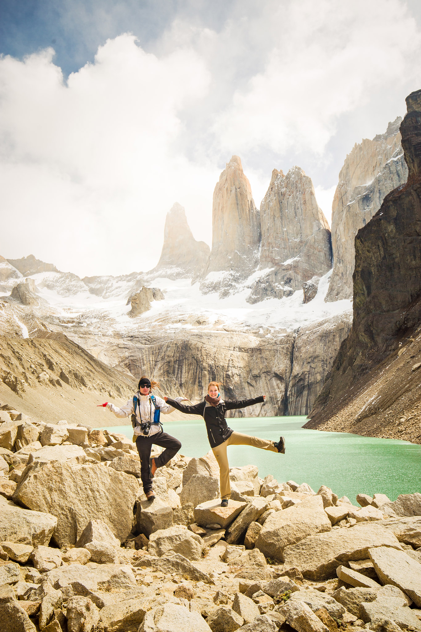 Wedding-Travellers-Overlanding-Destination-Wedding-Chile-Torres-del-Paine-Tres-Torres-Three-Towers-silly-girls-fun
