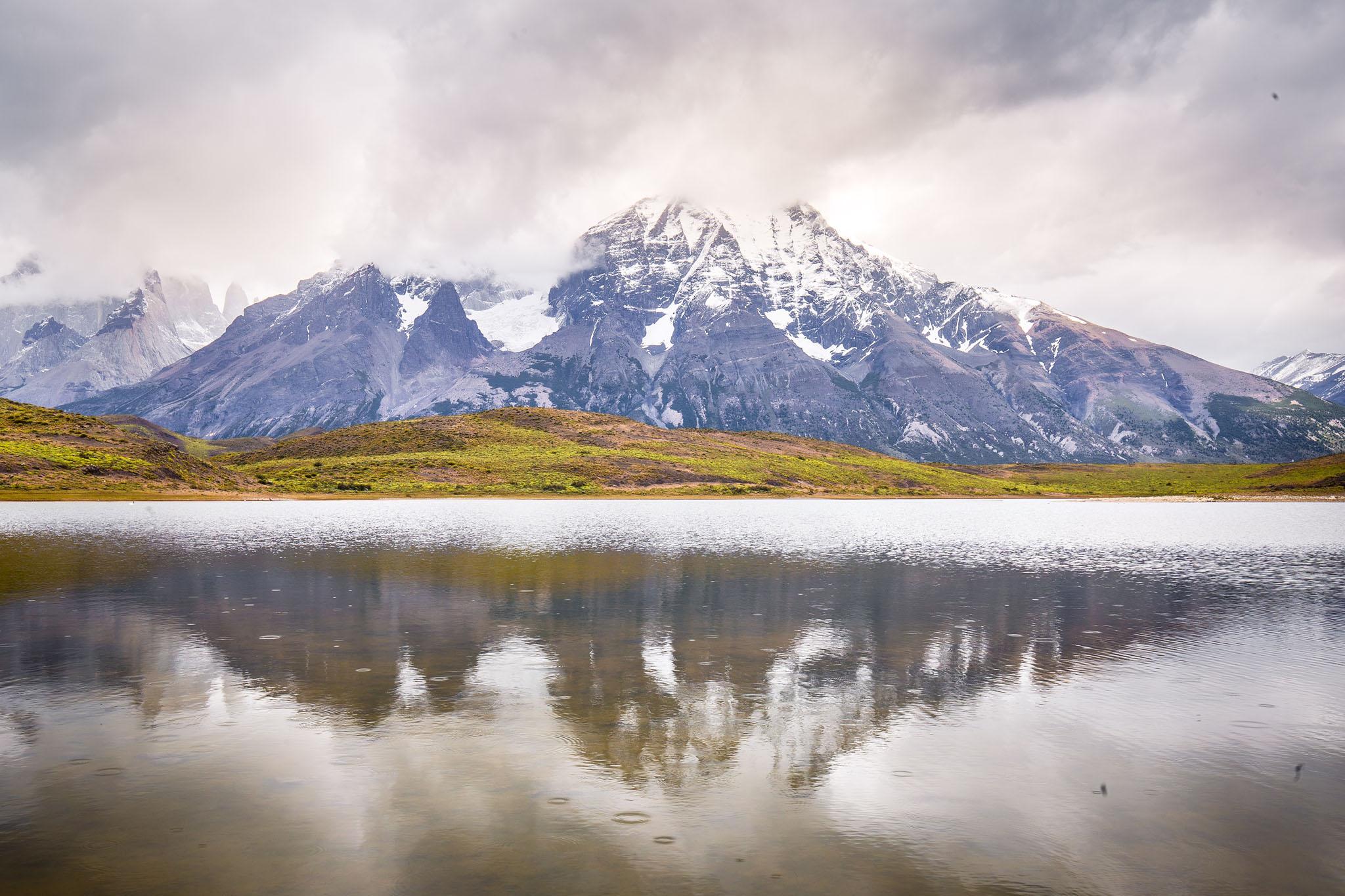 Wedding-Travellers-Overlanding-Destination-Wedding-Chile-Torres-del-Paine-rain-laguna-lake-azul
