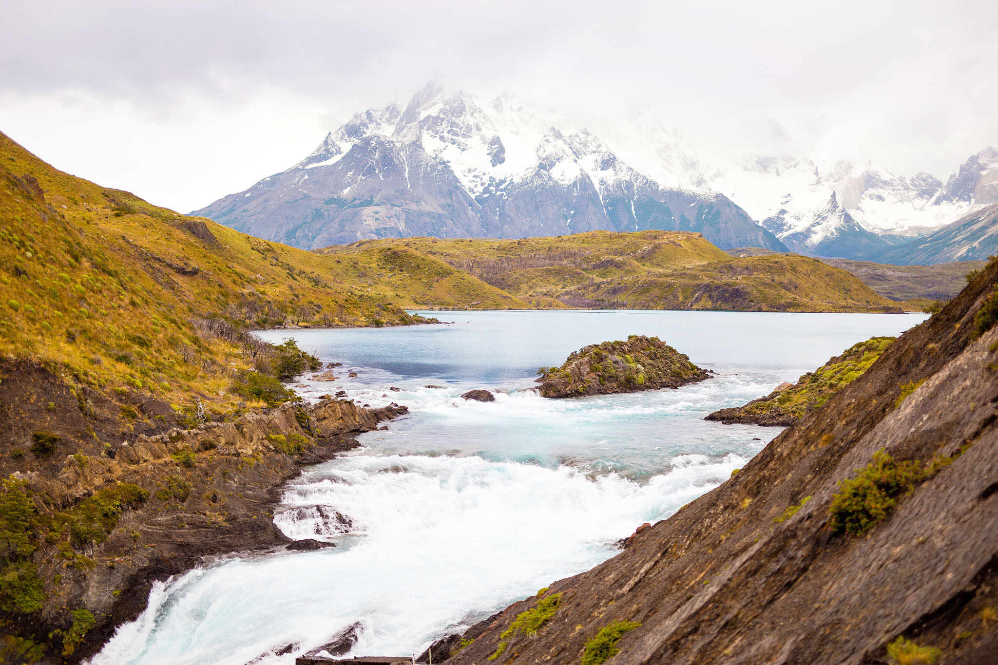 Wedding-Travellers-Overlanding-Destination-Wedding-Chile-Torres-del-Paine-small-waterfall-salto-chico