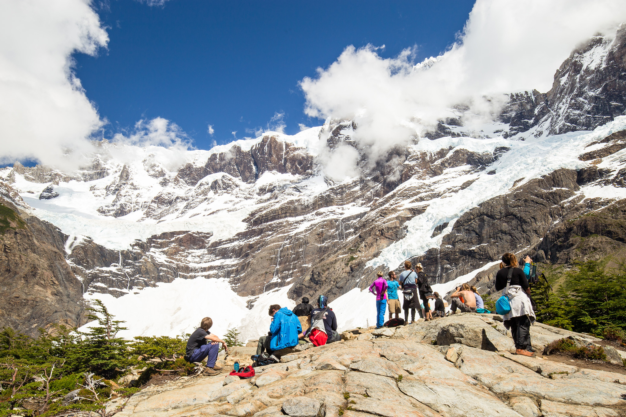 Wedding-Travellers-Overlanding-Destination-Wedding-Chile-Torres-del-Paine-glacier-Valley-French-glaciar-valle-frances-ice-snow-mountain-mirador-viewpoint-avalancha-avalanche