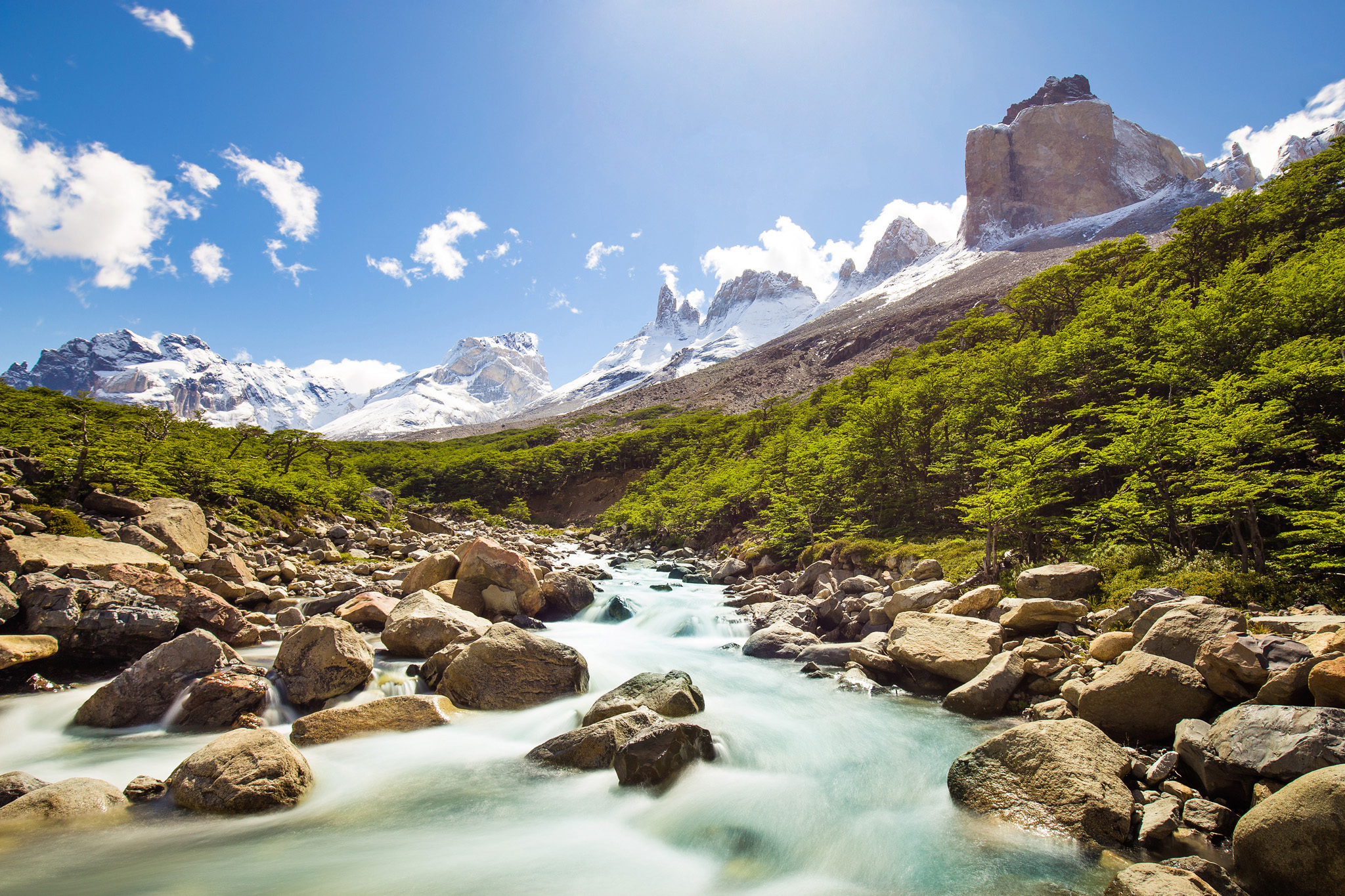 Wedding-Travellers-Overlanding-Destination-Wedding-Chile-Torres-del-Paine-Valle-Frances-Valley-French-river-snow-ice-mountain-glacial-forest-stones