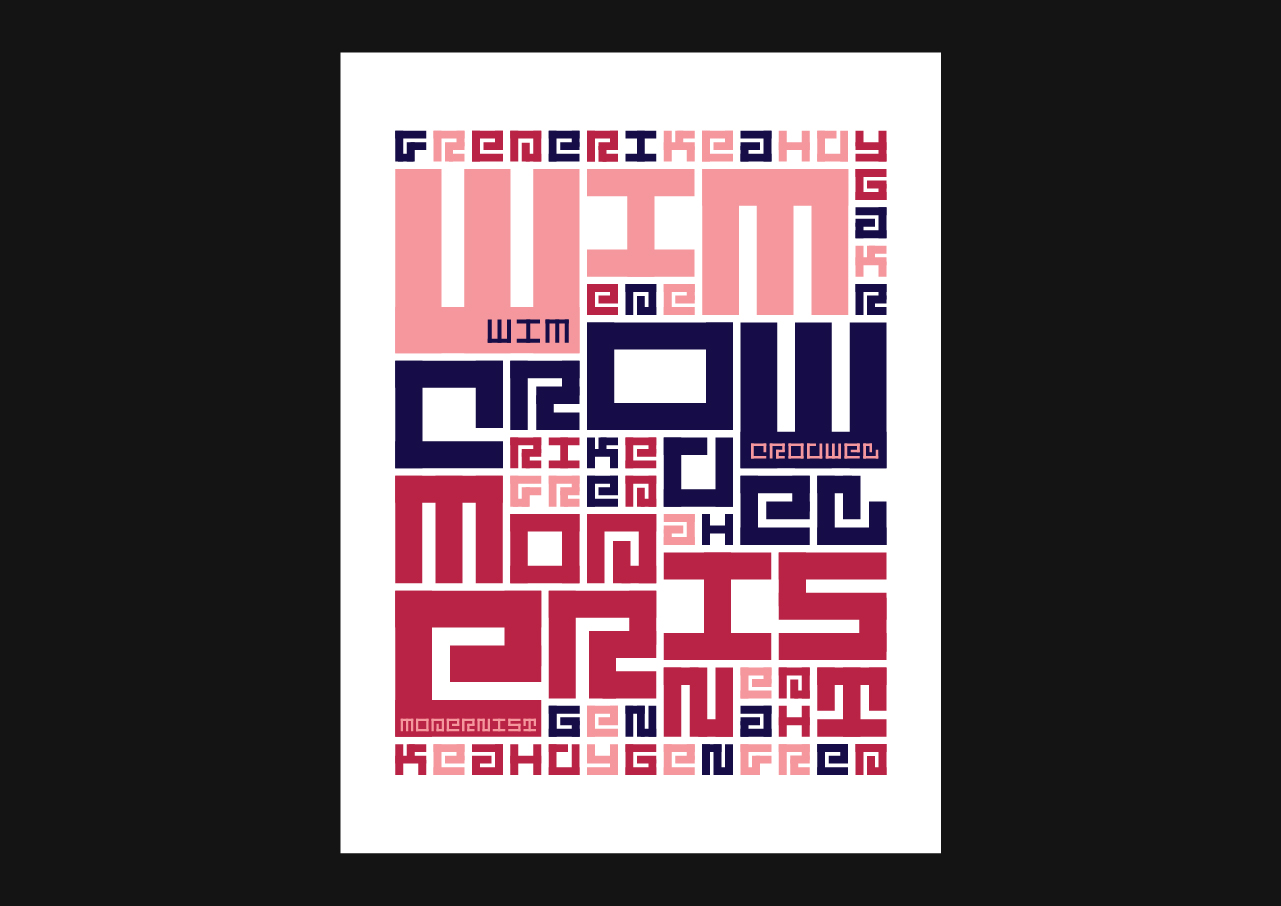 "Wim Crouwel's ""Modernist"" designed using only the Jurriaan typeface."