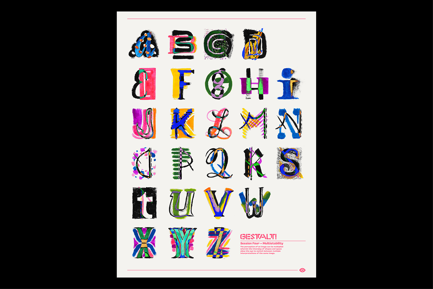 In a Gestalt first, the group left the workshop not knowing what the final letterforms would look like - they would only be revealed to the group about a week after the session concluded.