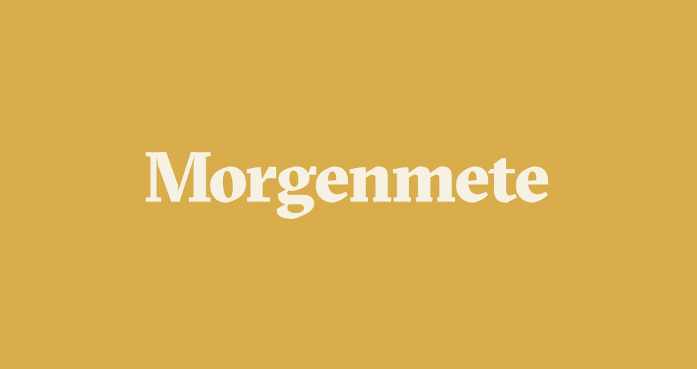 Morgenmete primary logo set in    GT Sectra Black
