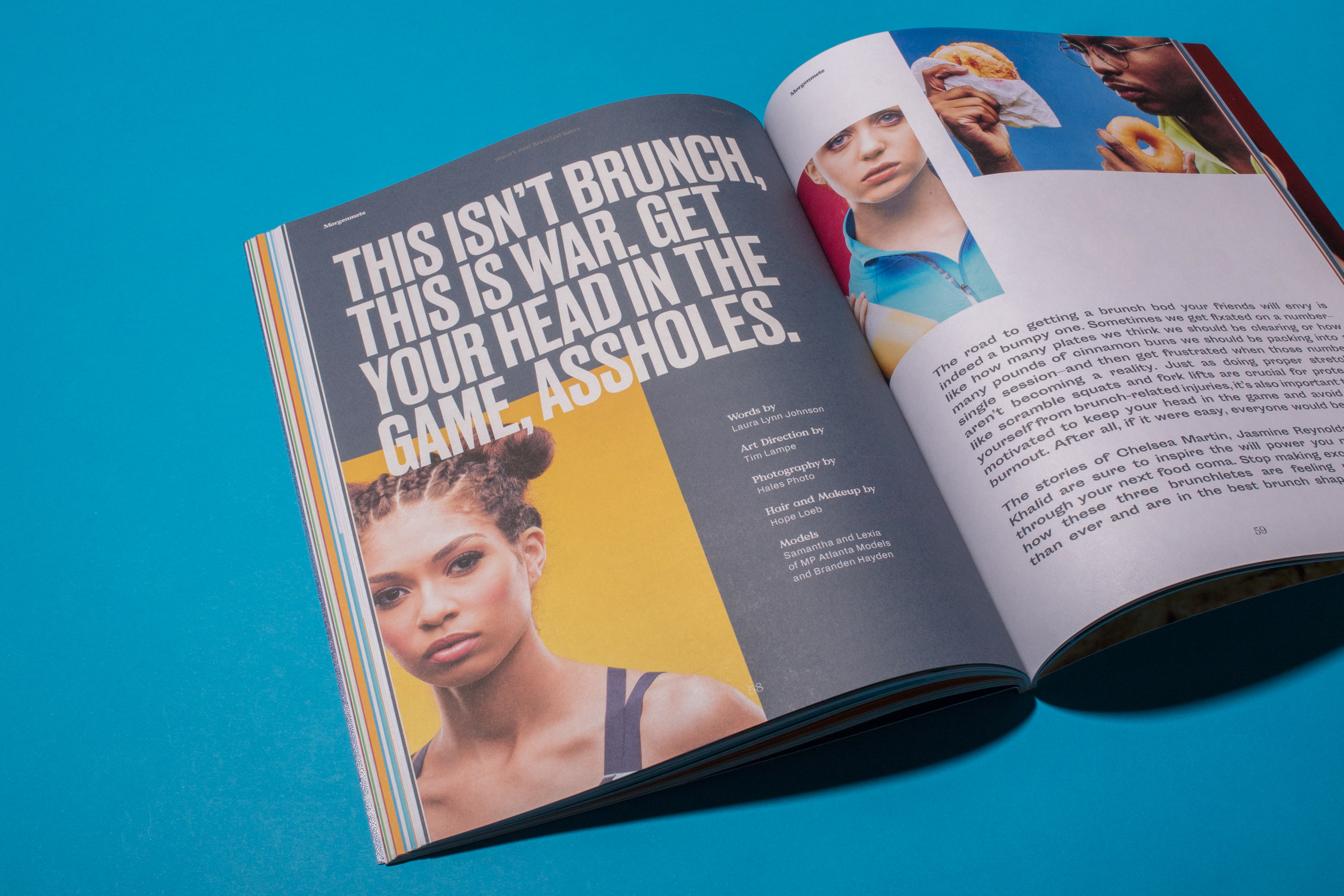 80 Pages of colorful art direction and original layout by Tim