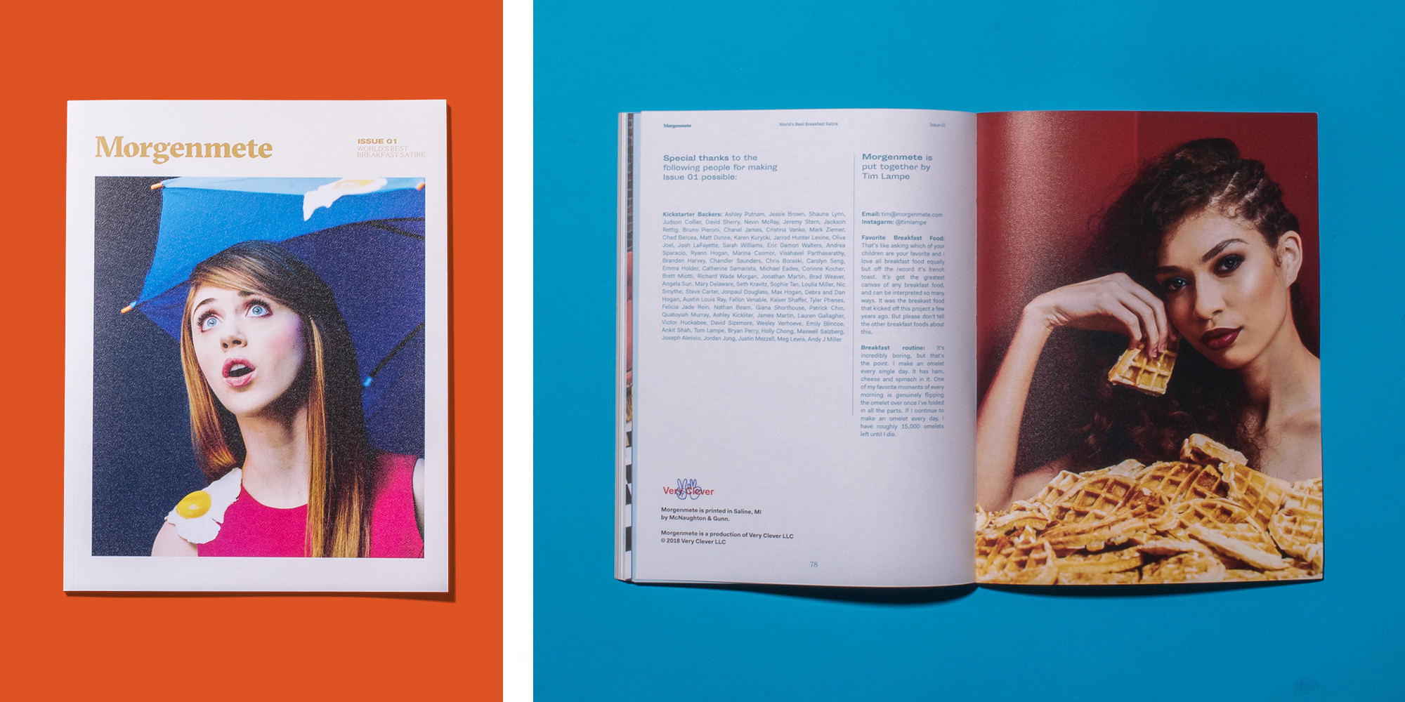 Cover of Issue 01 and back cover featuring original photography by Tim Lampe and    Hales Photo