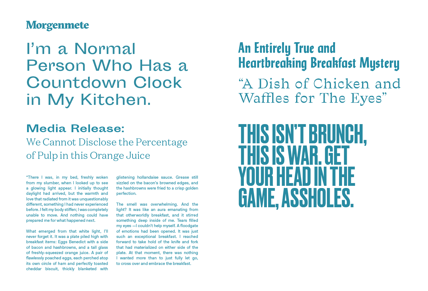 Type details for Morgenmete Issue 01