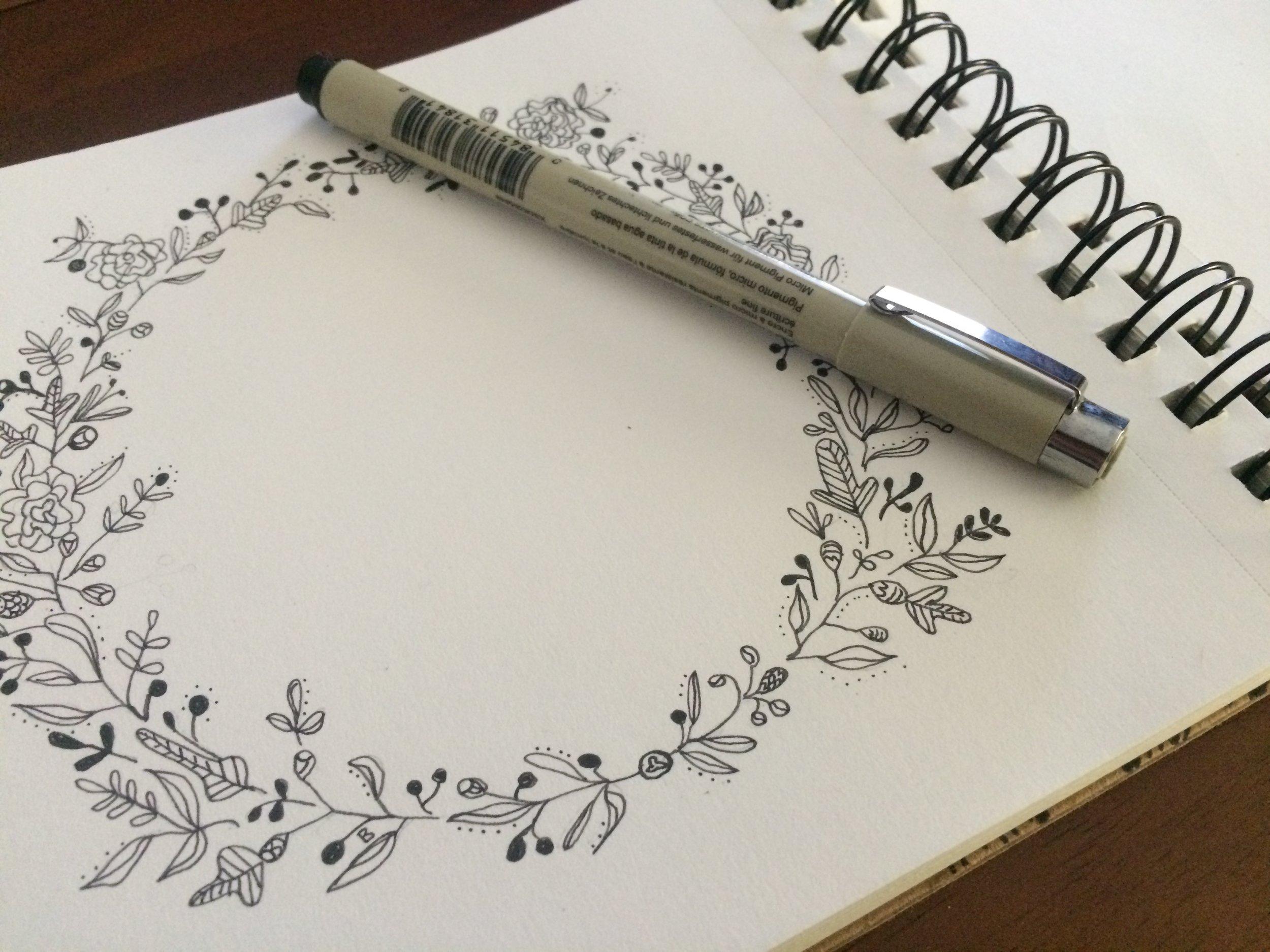 Doodle wreath