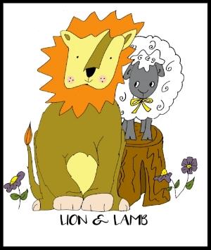 L is for Lion & Lamb!
