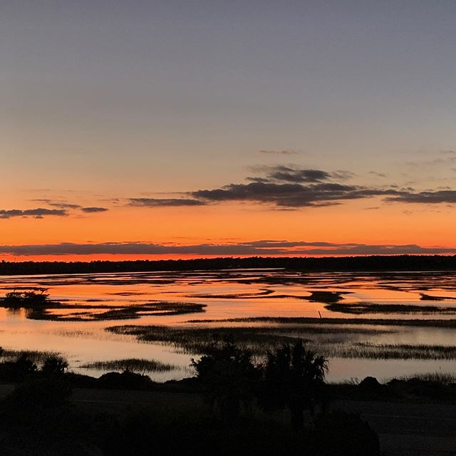 That's a wrap! Marsh-side sunset, beach-side moonrise. #nofilter