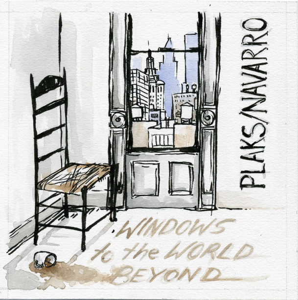 """""""Windows to the World Beyond"""" is a duet recording featuring Eric Plaks, piano, and Aquiles Navarro, trumpet and vocoder, recorded in December 2016 at Wombat Studios in Brooklyn. Harlem artist Stephanie Mulvihill contributed the outstanding original art work for the CD.  This album sounds like nothing else out there, and certainly has a unique place in my catalog – please purchase a copy for yourself, so that you can enjoy the artistic collaboration Aquiles and I worked so hard on. The price is $15. Just click the Paypal button below and you will get the CD in a few days!"""