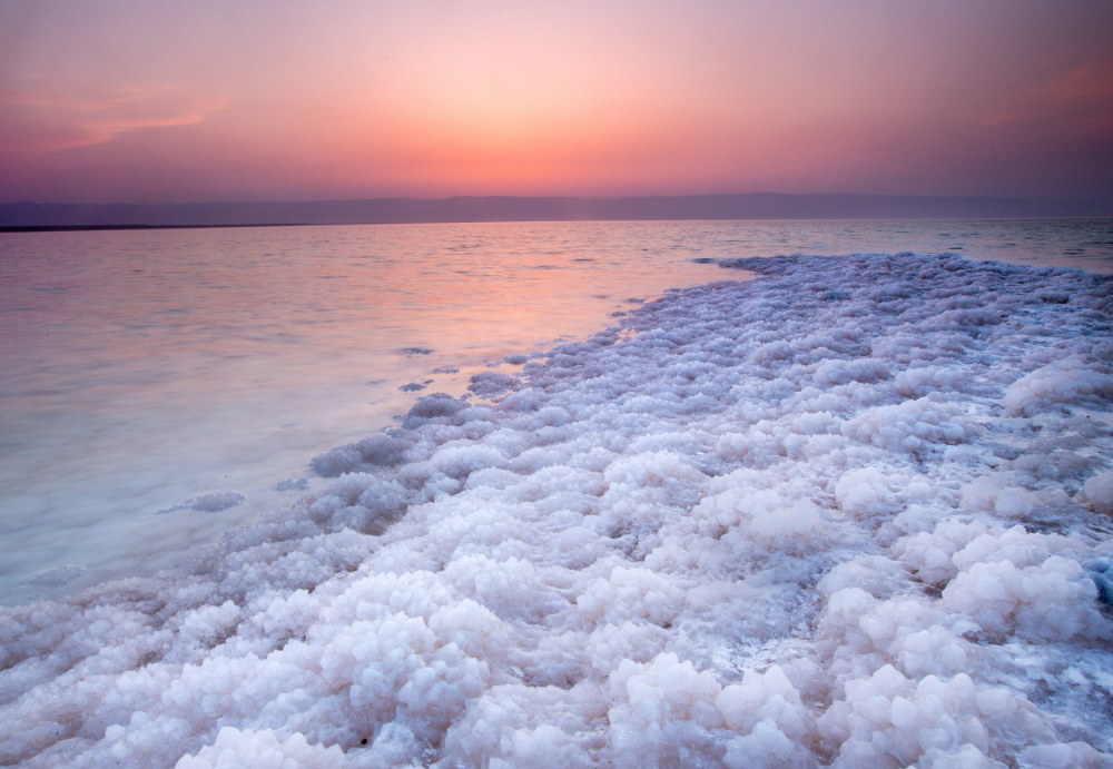 Dead Sea  at sunset.