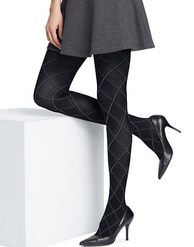 Hanes Argyle Tights  in Black