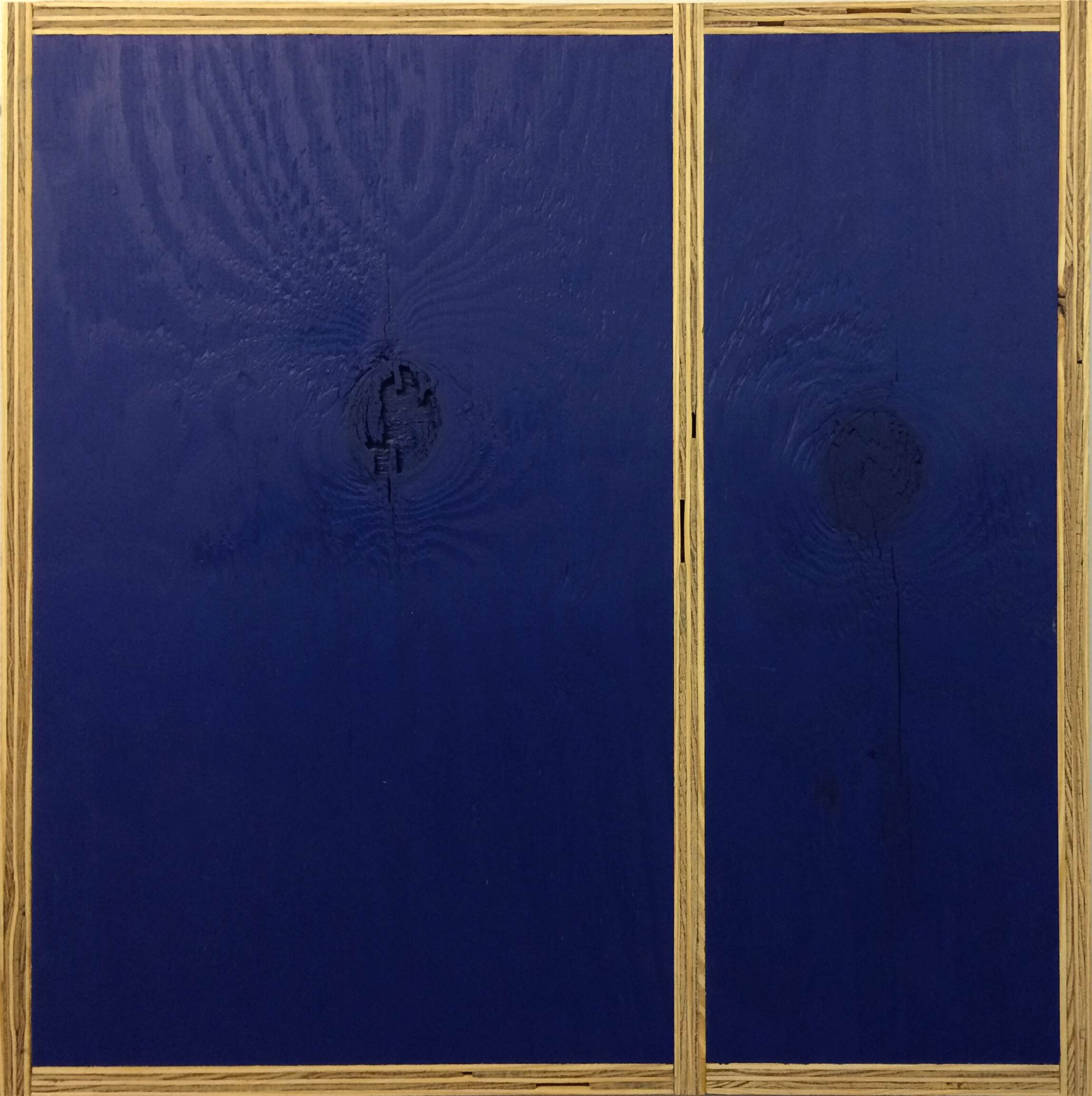 Transitional Geometry in Blue (Figure 28)  , 2014. Eggshell acrylic on plywood.