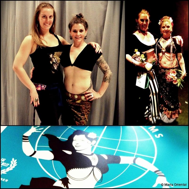 Maria Oriental tillsammans med Kristine Adams från Fat Chance Belly Dance. Stockholm, maj 2014.