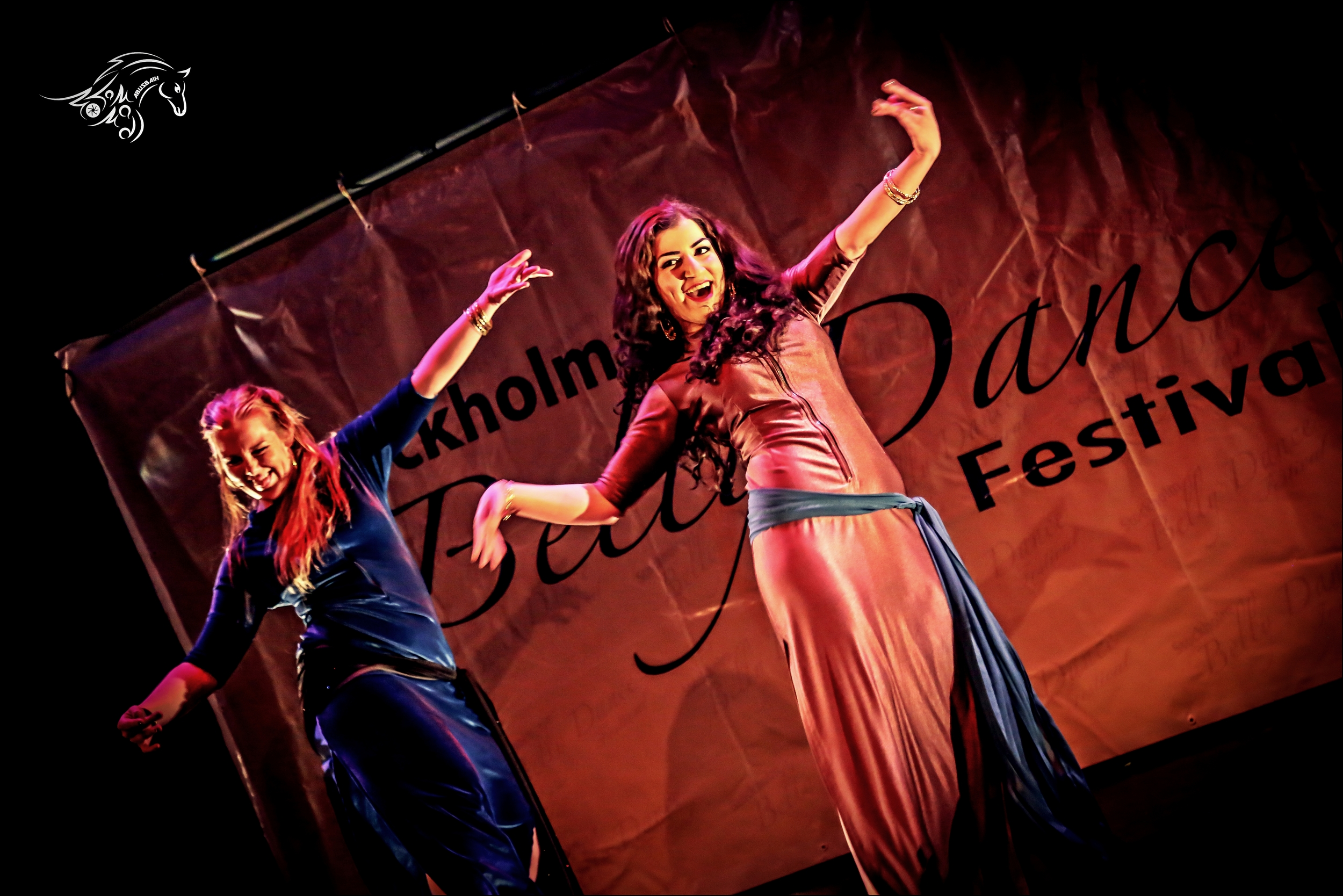 Maria Oriental & Elnaz - Shaabi at Stockholm Belly Dance Festival 2015. Photo: Mohammad Abusbaih.   https://www.facebook.com/mohd.abusbaih