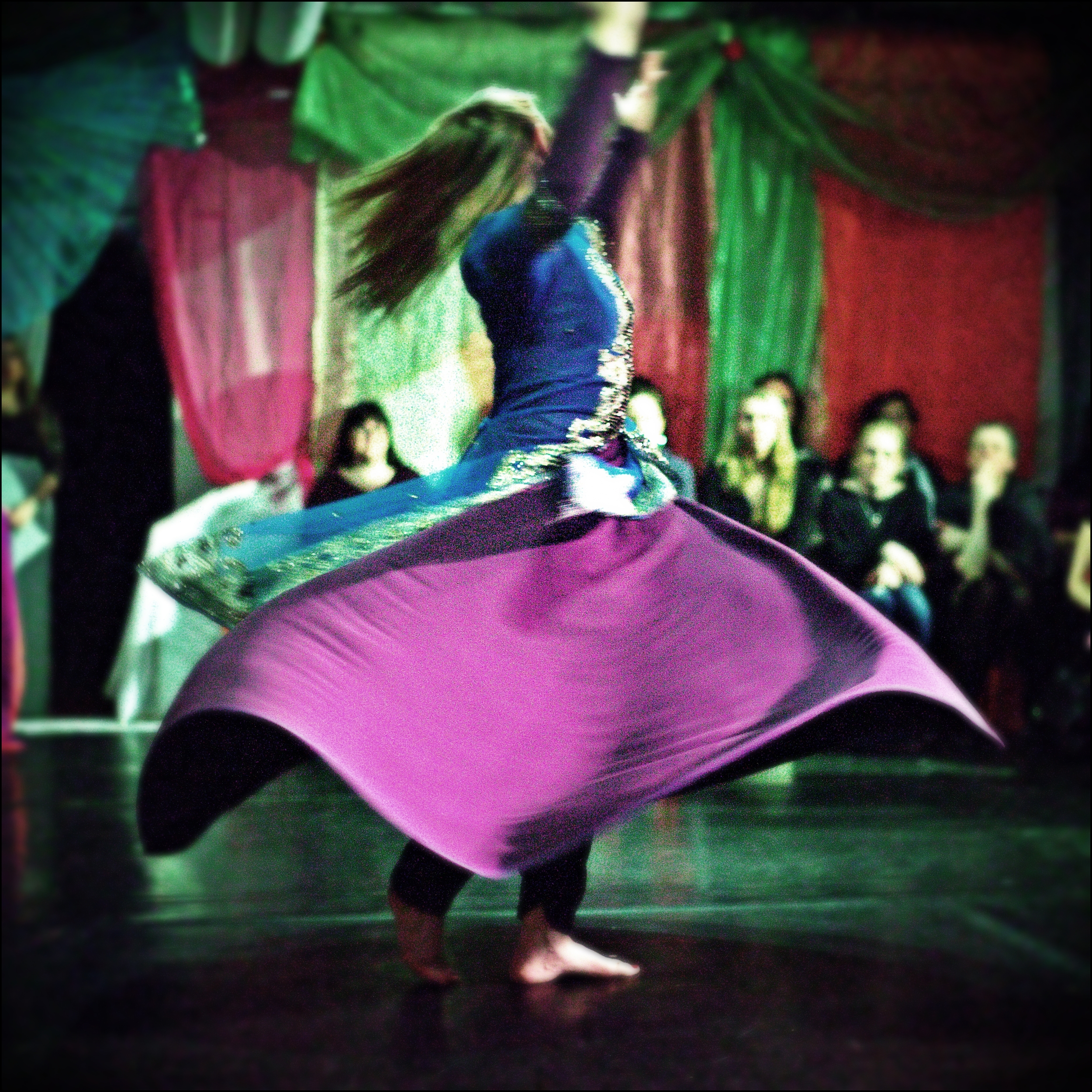 Maria Oriental - Persian Dance at Cabaret el Hob, March 2015. Photo by Paco.