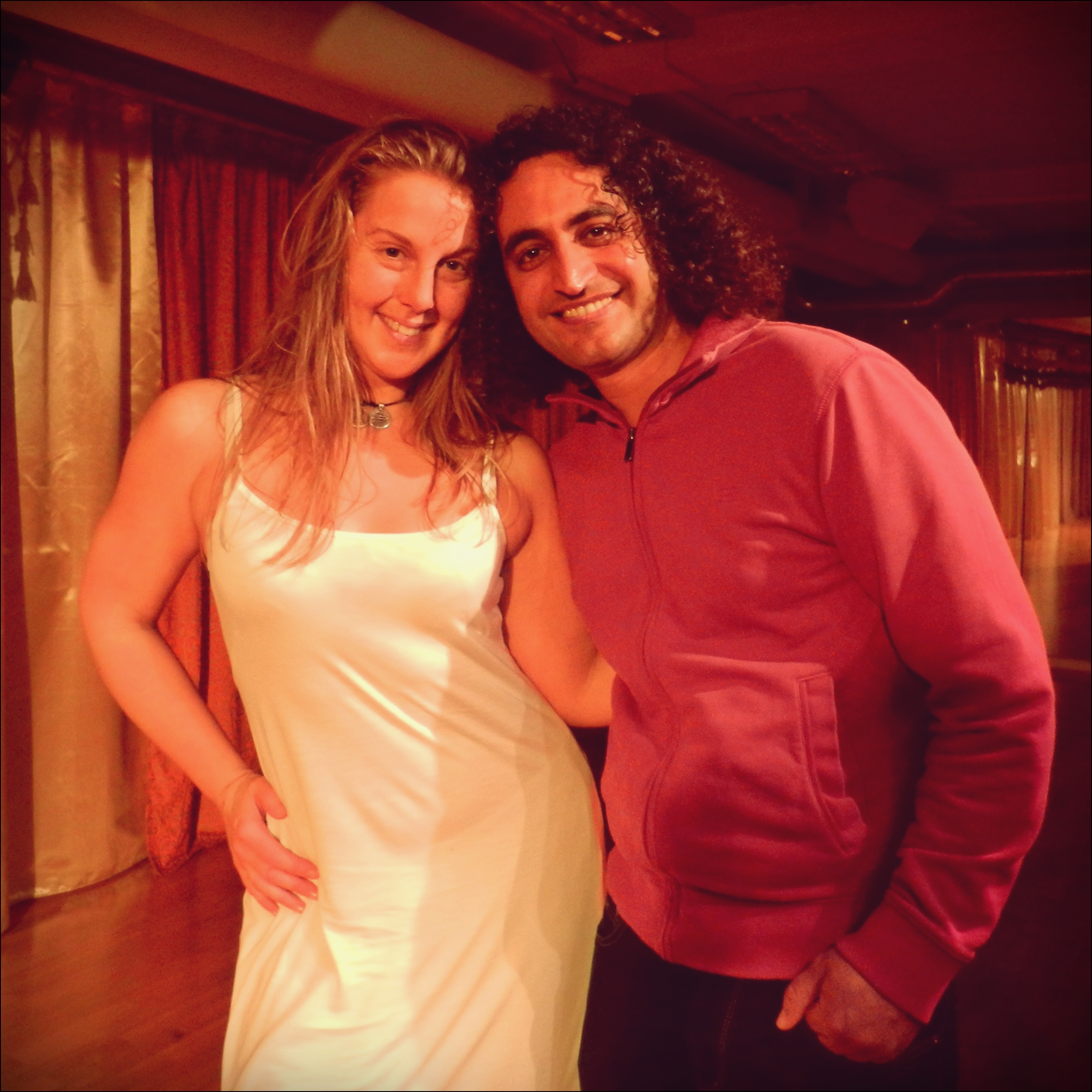 Tillsammans med musikern Reza Samani. November 2015.